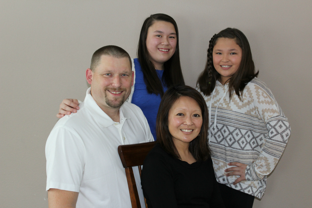 Adam Blaskowski, the owner of Tri-County Restoration & Cleaning LLC, and his family.